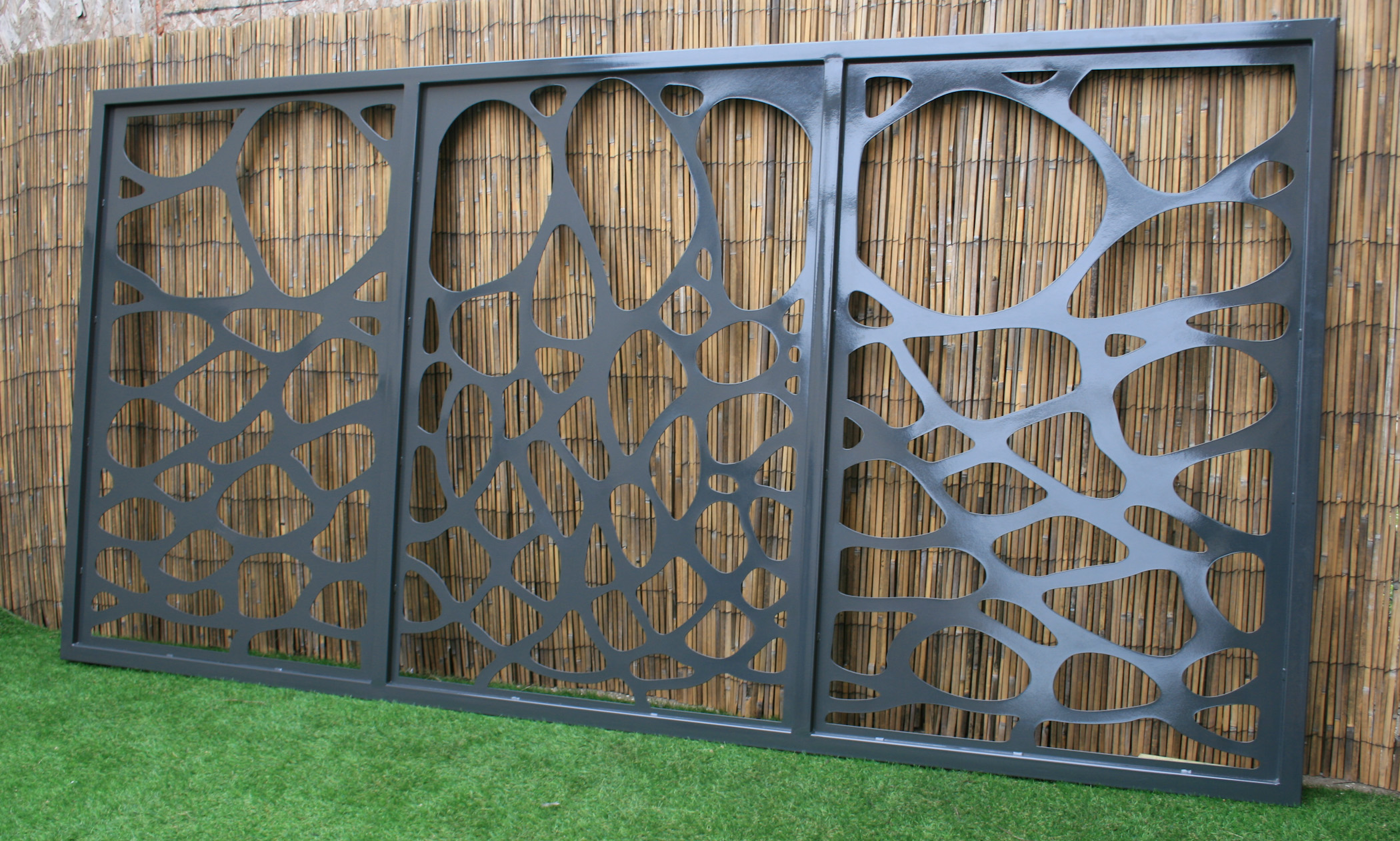 Artistic Steel Driveway Gate - Antoni Gaudi - Decorative Steel - Modernist