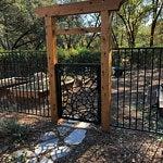 Cobblestone garden gate